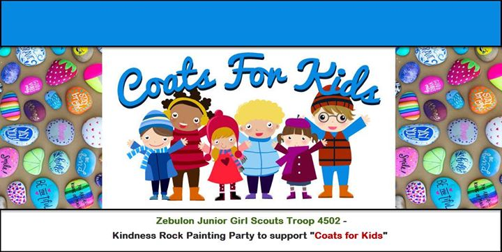 Kindness Rock Painting Party to support Coats for Kids