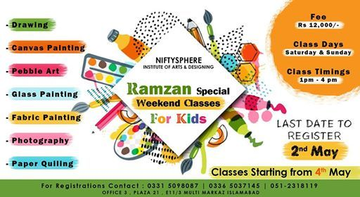 Ramzan Art Classes for Kids at Niftysphere- Institute of