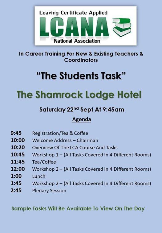 The LCA Student Tasks for Workshop