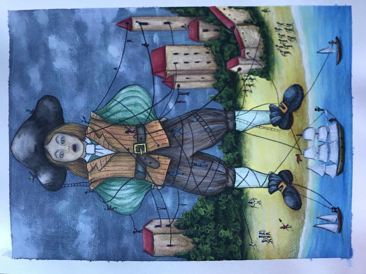 Рисунки путешествие гулливера в лилипутию