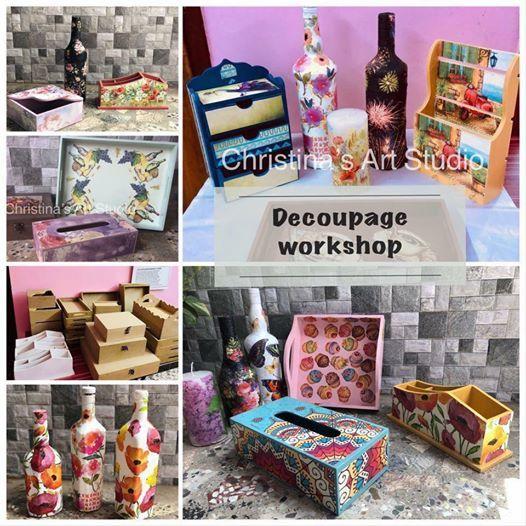 Decoupage workshop