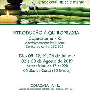 Curso Introduo  Quiropraxia CBO 3221-15 - Copacabana RJ