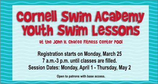 Cornell Youth Swim Lessons Registration