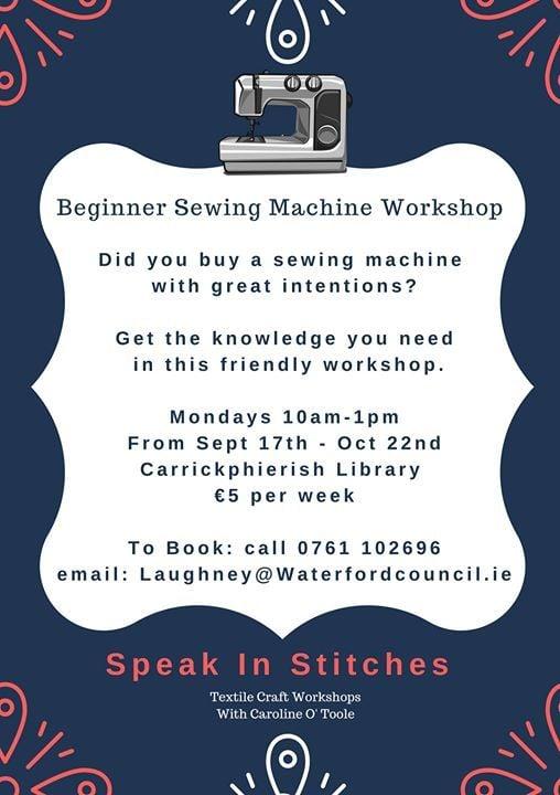 Sewing Machine Workshops