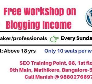 Free workshop on Blogging Income