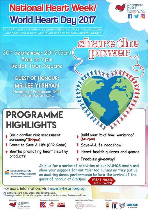 World Heart Day 2017 NUHCS x SHF
