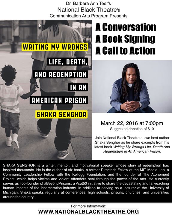 Shaka Senghor A Conversation A Book Signing A Call to Action