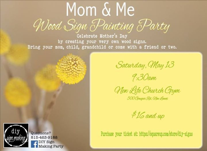 Mom Me Wood Sign Painting Party At New Life Church New Lenox Il