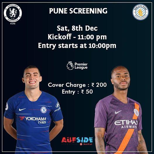 Chelsea FC vs Manchester City  Pune Screening