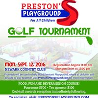 Prestons Playground Golf Tournament at Newark Country Club