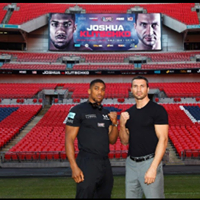 Joshua v Klitschko - live fight showing on 85 hd tvs&amp sound throughout the club