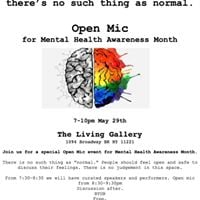 NOT Normal OPEN MIC for Mental Health Awareness