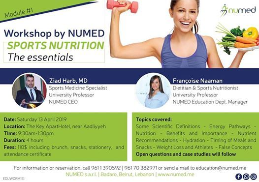 NUMED Workshop - Sports Nutrition - The Essentials