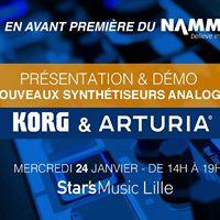 Avant Premire KORG &amp Arturia  Nouveauts NAMM 2018