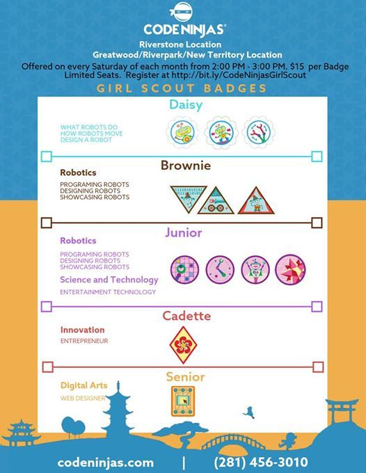 Girl Scout STEM Robotics Badges Brownies at Code Ninjas