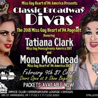 Classic Broadway Divas - The 2018 Miss Gay Heart of PA Pageant