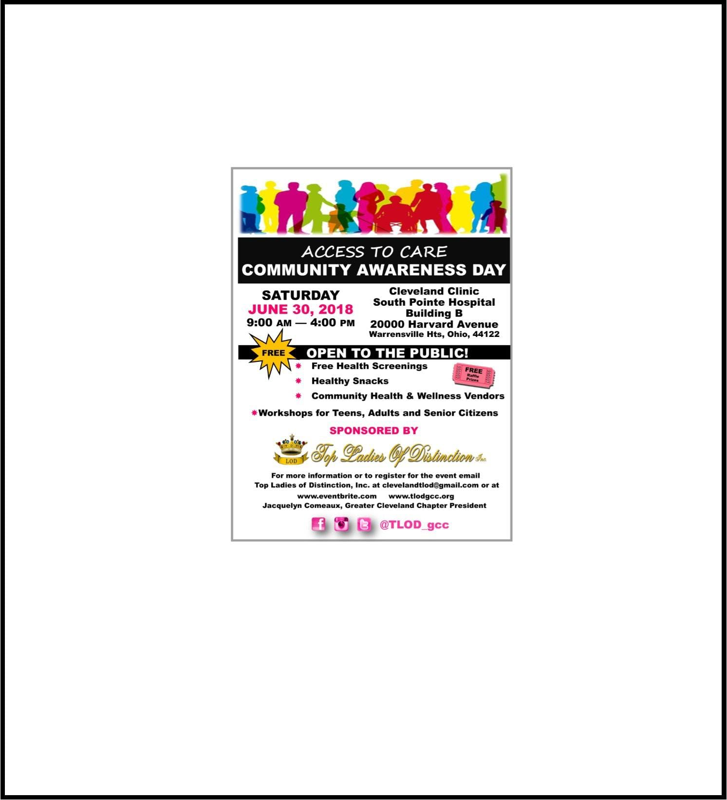 TLOD Greater Cleveland presents &quotAccess to Care  Community Awareness Day&quot