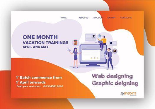 Vacation training in Web designing & Graphic designing