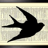 Recycled Book Silhouettes