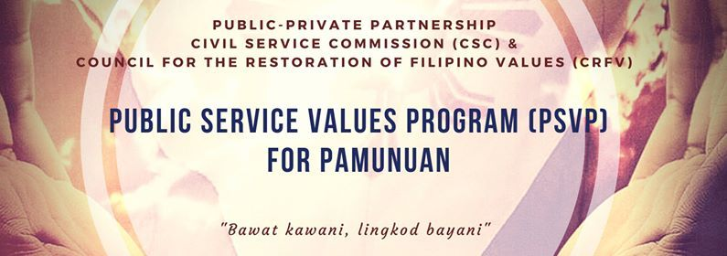 Public Service Values Program (PSVP) for Pamunuan