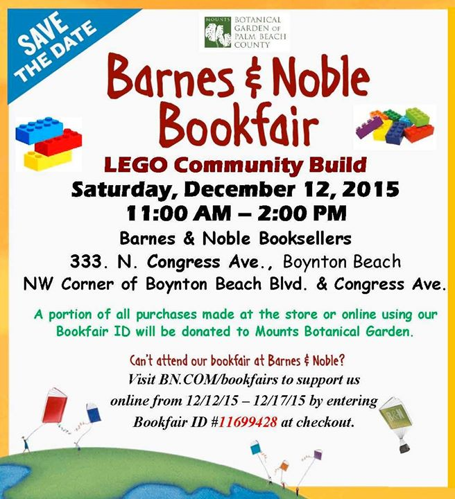 Lego Community Build And Book Fair At Barnes Noble Booksellers Boynton Beach