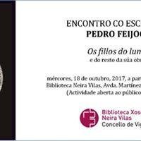 Encontro con escritores Pedro Feijoo