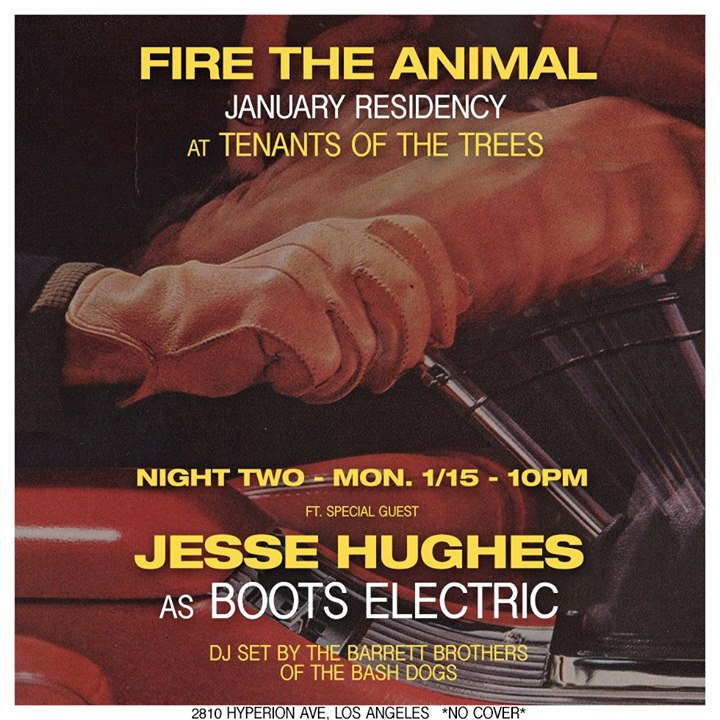 Fire The Animal  Jesse Hughes at Tenants of the Trees