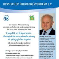 Schulpolitik als Religionsersatz  Vortrag Josef Kraus