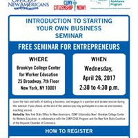 Free Seminar Introduction to Starting Your Own Business