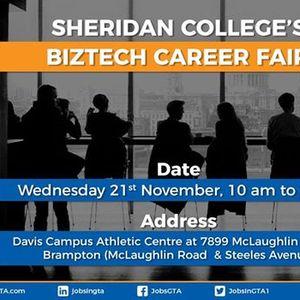 BizTech Career Fair Davis Campus Athletic Center 7899 McLaughlin Road Brampton