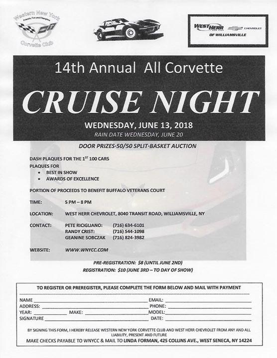 14th Annual All Corvette Cruise Night