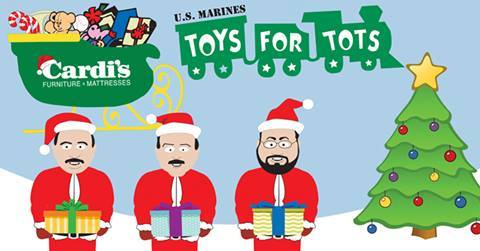 Cardiu0027s Furniture U0026 Mattresses U0026 Cat Country 98.1 Toy Drive!