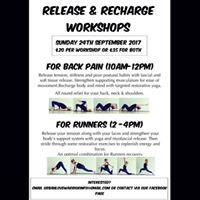 Release &amp Recharge workshops
