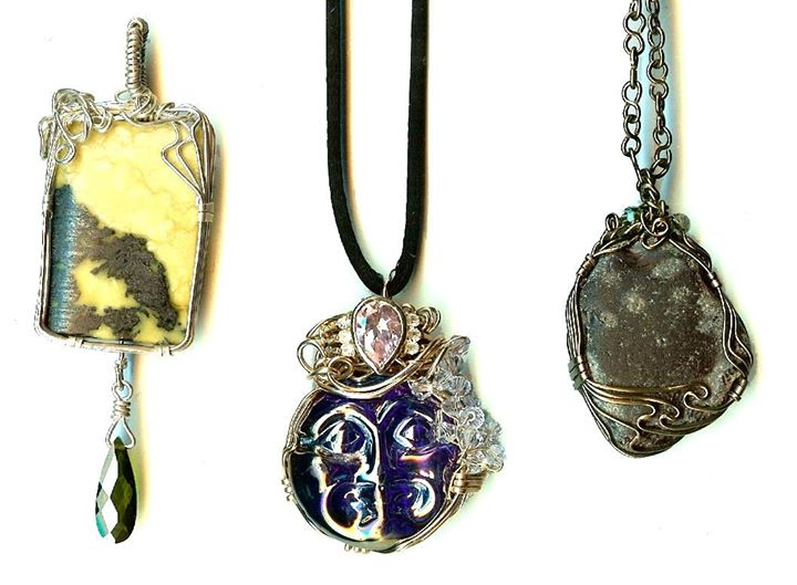 Wire Wrapped Cabochon Class at Bead Inspirations | alameda