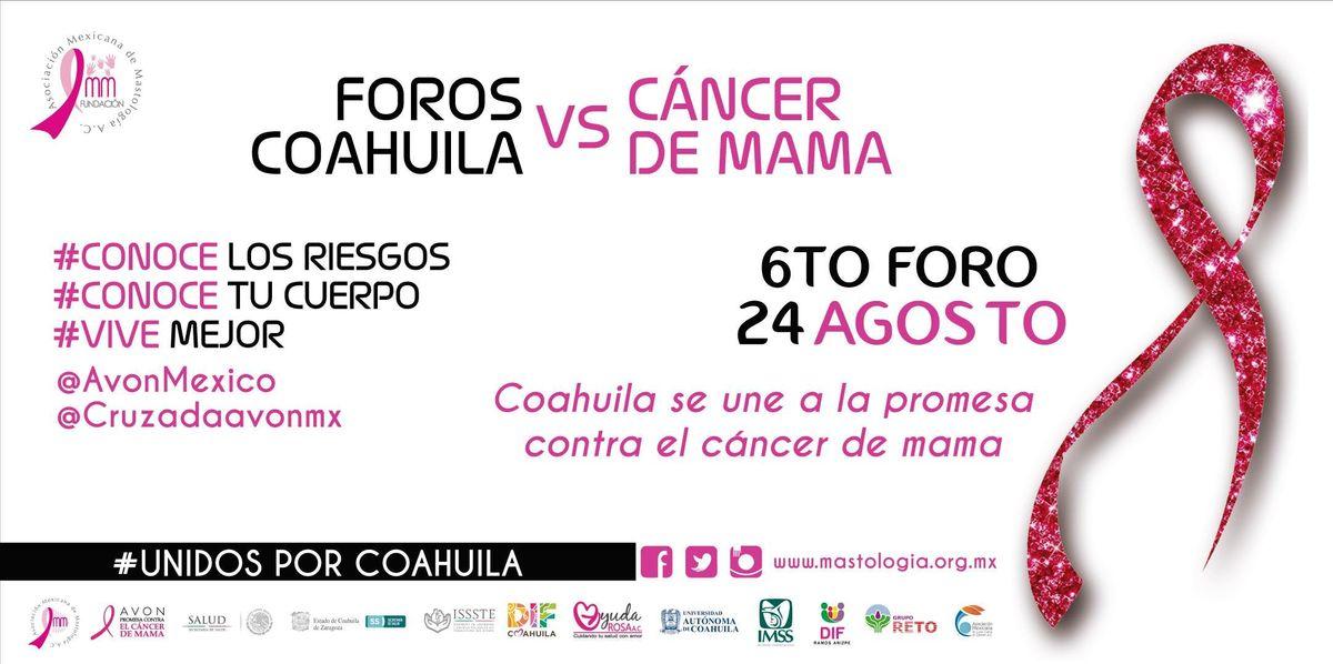 6TO FORO COAHUILA CONTRA EL CANCER DE MAMA
