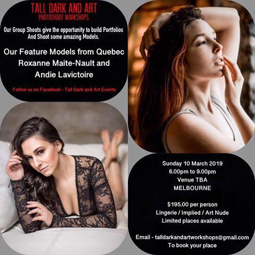 Lingerie Implied & Artistic Nude Photoshoot Workshop Melbourne