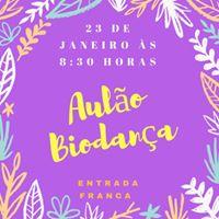 Aulo Biodana com entrada franca