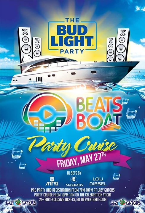 The Bud Light Party Beats Boat MDW 5/27