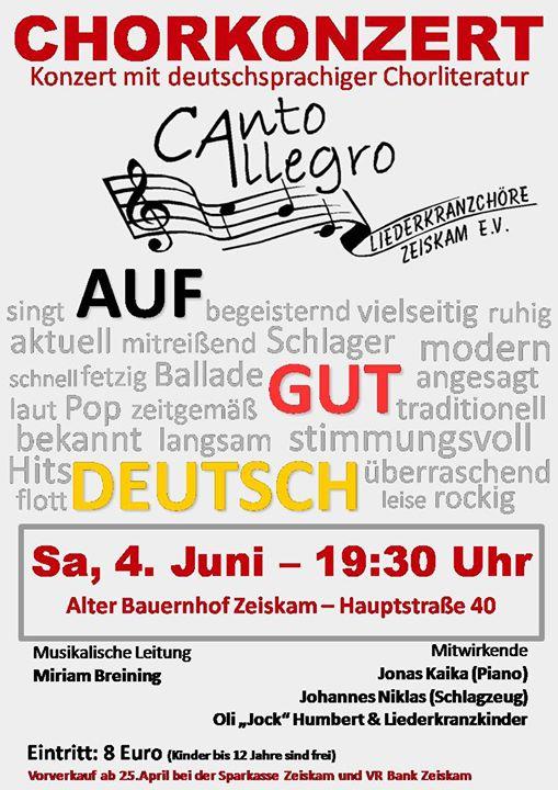 Chorkonzert Auf Gut Deutsch Von Canto Allegro At Alter Bauernhof