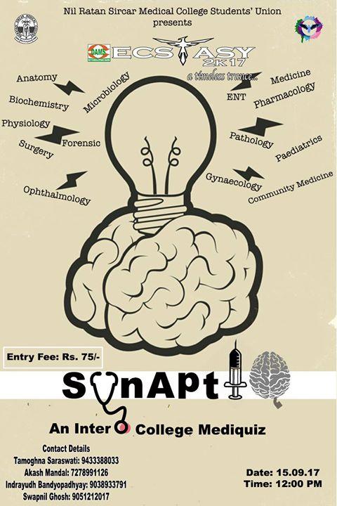 SynAptIQ~ An Inter College Medical Quiz at Nil Ratan Sircar Medical