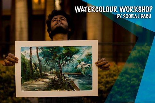 Watercolour workshop by Sooraj Babu