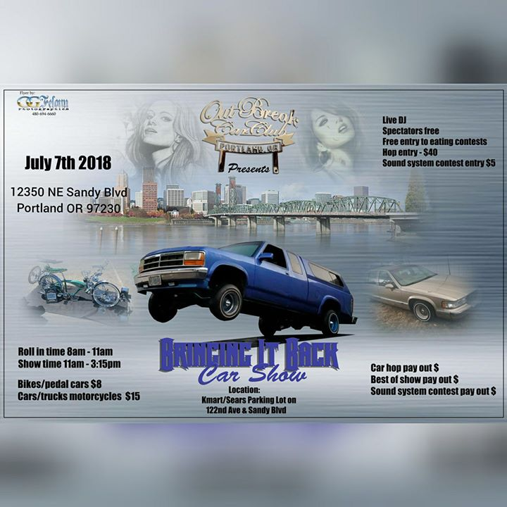 Bringing It Back Car Show By OutBreak Car Club At Sears Outlet Store - Portland car show 2018