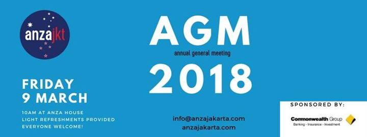 ANZA Annual General Meeting (AGM)