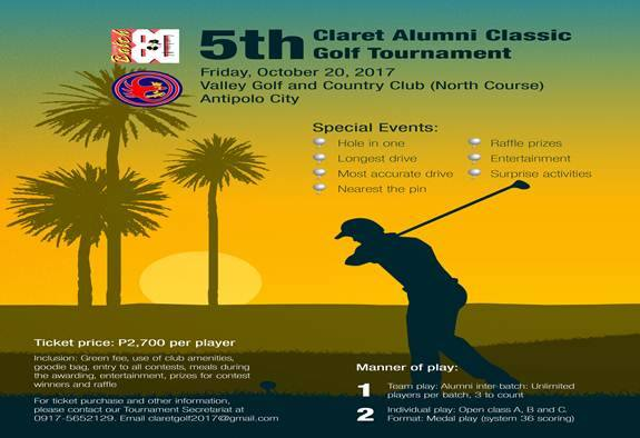 5th Claret Alumni Classic Golf Tournament 2017