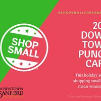 Downtown Sanford Holiday Punch Card