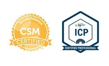 Certified ScrumMaster (CSM)  ICAgile Certified Professional (ICP)