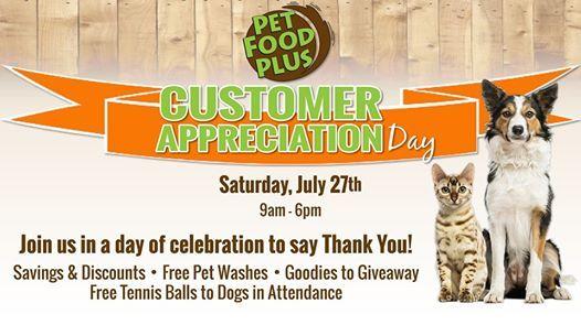Customer Appreciation Day At Pet Food Plus Eau Claire