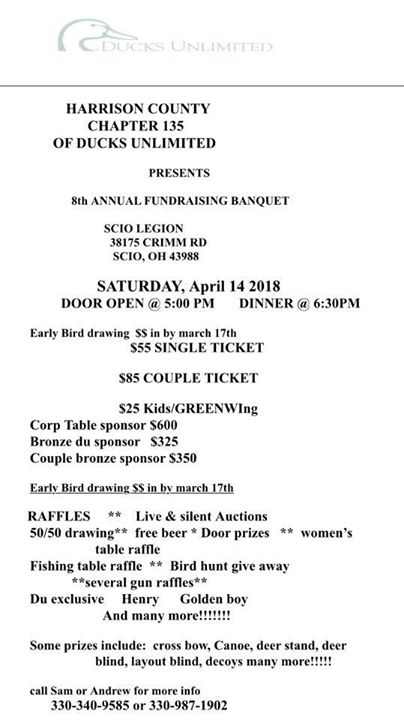Free door prizes for banquets