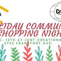 Just Creations and La Casita Holiday Shopping Night