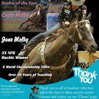 Melby Team Barrel Racing Clinic